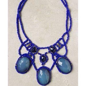 Anthropologie Blue Abundance Necklace
